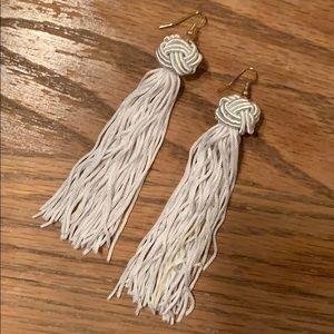 Vanessa Mooney white earrings